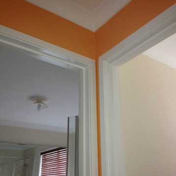 Opting for a bright finish, this home was transformed with a splash of Tangerine.