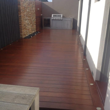 It's amazing how a few coats of clear on an outdoor decked area can revitalise the space.
